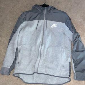 Nike grey hoodie sz L